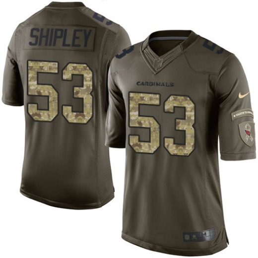 A.Q. Shipley Men's Arizona Cardinals Nike Salute to Service Jersey - Limited Green