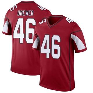 Aaron Brewer Men's Arizona Cardinals Cardinal Jersey - Legend