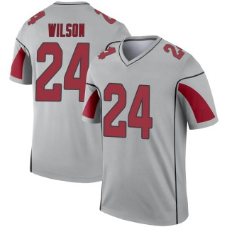 Adrian Wilson Men's Arizona Cardinals Nike Inverted Silver Jersey - Legend