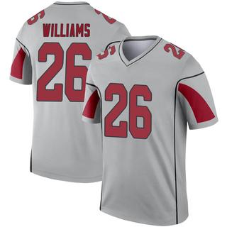 Brandon Williams Men's Arizona Cardinals Nike Inverted Silver Jersey - Legend