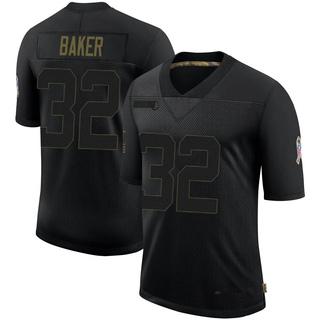 Budda Baker Men's Arizona Cardinals 2020 Salute To Service Jersey - Limited Black