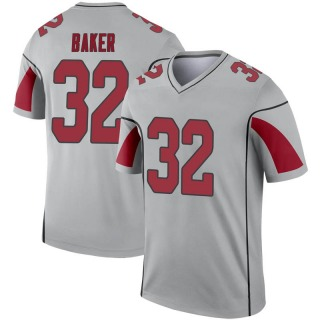 Budda Baker Men's Arizona Cardinals Inverted Silver Jersey - Legend