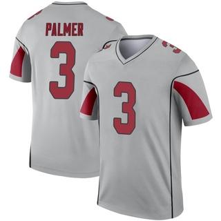 Carson Palmer Men's Arizona Cardinals Inverted Silver Jersey - Legend