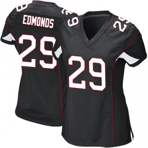 Chase Edmonds Women's Arizona Cardinals Nike Alternate Jersey - Game Black