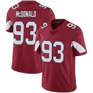 Clinton McDonald Men's Arizona Cardinals Cardinal 100th Vapor Jersey - Limited