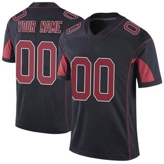 Custom Men's Arizona Cardinals Nike Color Rush Vapor Untouchable Jersey - Limited Black