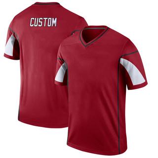 Custom Men's Arizona Cardinals Nike # # Cardinal Jersey - Legend