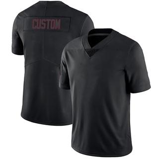 Custom Men's Arizona Cardinals Nike # # Jersey - Limited Black Impact