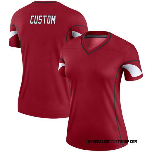 Custom Women's Arizona Cardinals Nike # # Cardinal Jersey - Legend