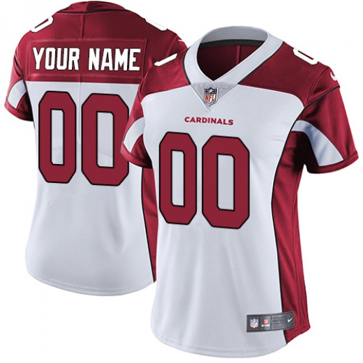 Custom Women's Arizona Cardinals Nike ized Jersey - Limited White