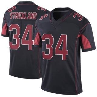 Dontae Strickland Men's Arizona Cardinals Nike Color Rush Vapor Untouchable Jersey - Limited Black
