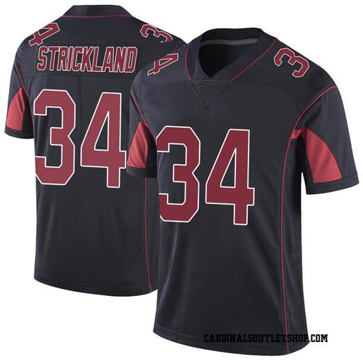 Dontae Strickland Men's Arizona Cardinals Nike Color Rush Vapor Untouchable Jersey - Limited Black