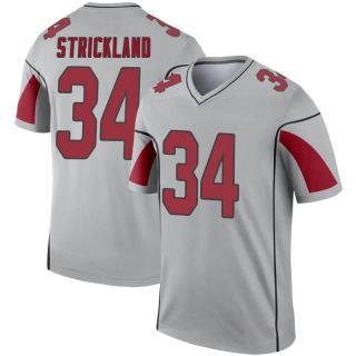 Dontae Strickland Youth Arizona Cardinals Nike Inverted Silver Jersey - Legend