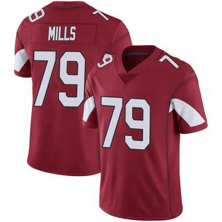 Jordan Mills Men's Arizona Cardinals Nike Cardinal 100th Vapor Jersey - Limited