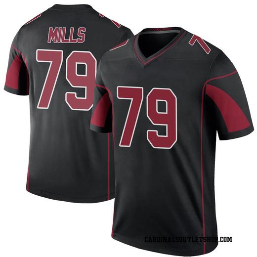 Jordan Mills Youth Arizona Cardinals Nike Color Rush Jersey - Legend Black