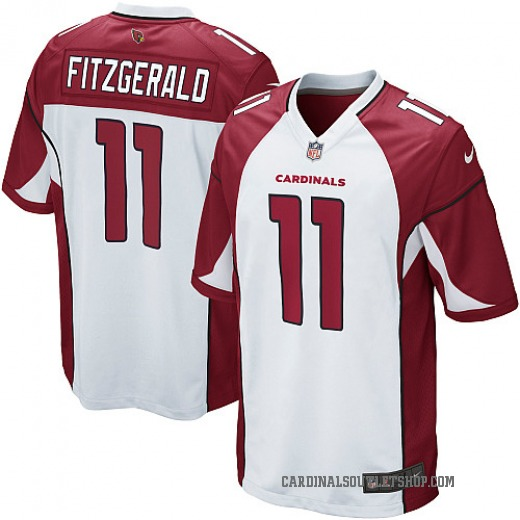 65710d767f2 Larry Fitzgerald Men s Arizona Cardinals Nike Jersey - Game White
