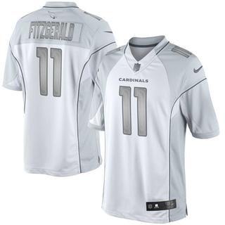 5dc22585d Larry Fitzgerald Women s Arizona Cardinals Nike Platinum Jersey - Limited  White