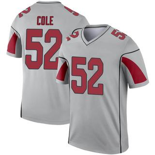 Mason Cole Youth Arizona Cardinals Nike Inverted Silver Jersey - Legend