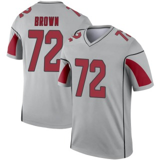 Miles Brown Men's Arizona Cardinals Nike Inverted Silver Jersey - Legend Brown