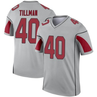 Pat Tillman Men's Arizona Cardinals Inverted Silver Jersey - Legend
