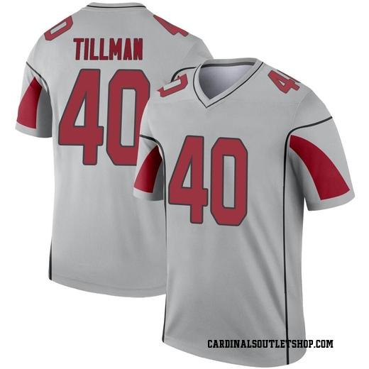 Pat Tillman Men's Arizona Cardinals Nike Inverted Silver Jersey ...