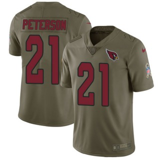 Patrick Peterson Youth Arizona Cardinals Nike 2017 Salute to Service Jersey  - Limited Olive 05566960a