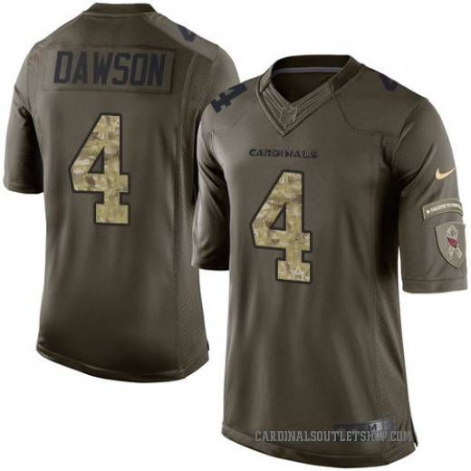 Phil Dawson Youth Arizona Cardinals Nike Salute to Service Jersey - Limited Green