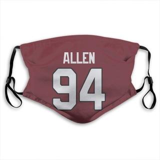 Zach Allen Arizona Cardinals Jersey Name & Number Face Mask - Red