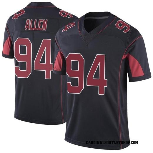 Zach Allen Men's Arizona Cardinals Nike Color Rush Vapor Untouchable Jersey - Limited Black