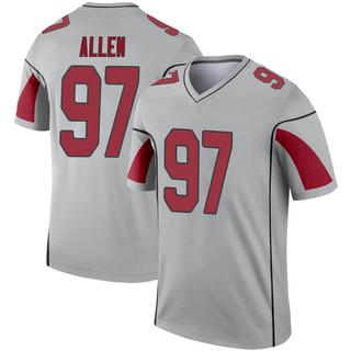Zach Allen Men's Arizona Cardinals Nike Inverted Silver Jersey - Legend