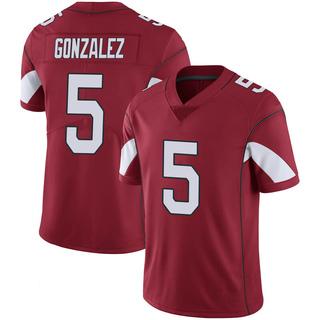 Zane Gonzalez Men's Arizona Cardinals Cardinal 100th Vapor Jersey - Limited