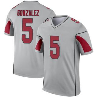 Zane Gonzalez Men's Arizona Cardinals Inverted Silver Jersey - Legend