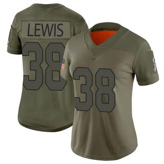 Zane Lewis Women's Arizona Cardinals Nike 2019 Salute to Service Jersey - Limited Camo
