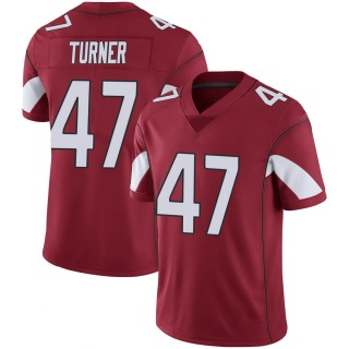 Zeke Turner Men's Arizona Cardinals Cardinal 100th Vapor Jersey - Limited