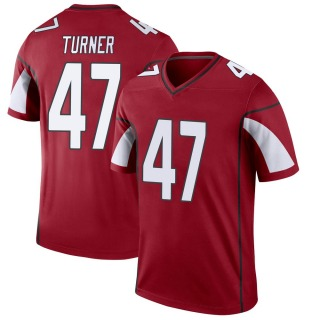Zeke Turner Men's Arizona Cardinals Cardinal Jersey - Legend