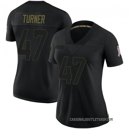 Zeke Turner Women's Arizona Cardinals Nike 2020 Salute To Service Jersey - Limited Black