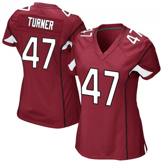 huge discount 1fcc9 8baec Zeke Turner Women's Arizona Cardinals Nike Cardinal Team Color Jersey - Game