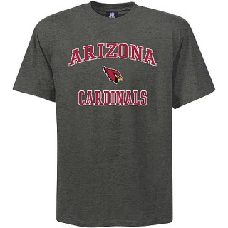Men's Arizona Cardinals Big & Tall Heart & Soul T-Shirt - - Grey