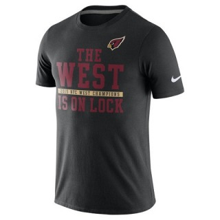 Men's Arizona Cardinals Nike 2015 NFC West Division Champions T-Shirt - Black