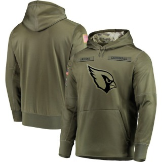 Men's Arizona Cardinals 2018 Salute to Service Sideline Therma Performance Pullover Hoodie - Olive