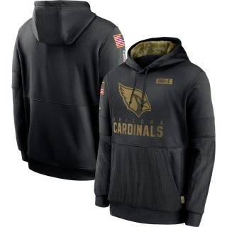 Men's Arizona Cardinals Nike 2020 Salute to Service Sideline Performance Pullover Hoodie - Black