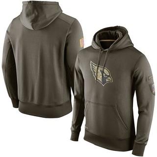 ERPA Cardinǎls Mens American Football Pullover Hoodie 2020 Salute to Service Sideline Performance Pullover Hoodie-Black
