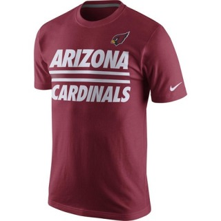 Men's Arizona Cardinals Nike Team e T-Shirt - Cardinal - Strip