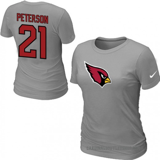super popular 825fb 5bf2d Women's Arizona Cardinals Nike Patrick Peterson Name & Number T-Shirt - -  Grey
