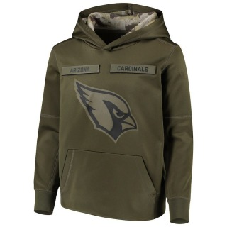 Youth Arizona Cardinals 2018 Salute to Service Pullover Performance Hoodie - Green