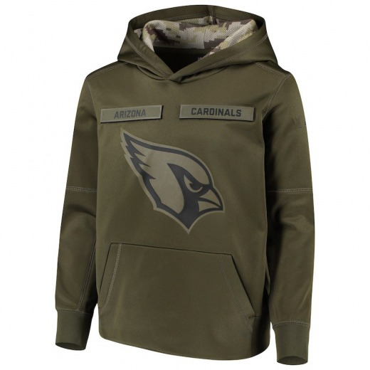 Youth Arizona Cardinals Nike 2018 Salute to Service Pullover Performance Hoodie - Green